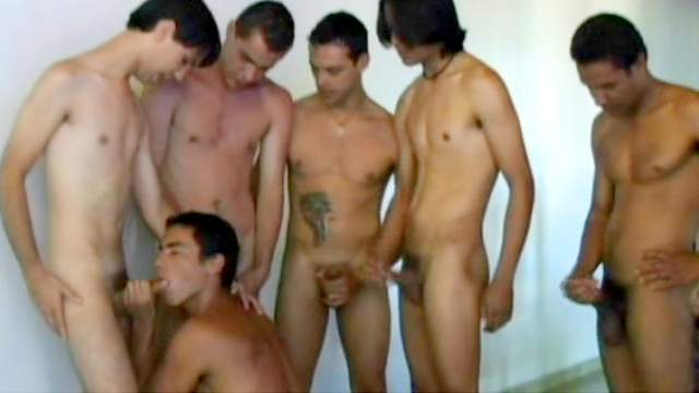 Blowjob, Brunette, Doggy style, Double penetration, Gangbang, Muscle, Tanned, Tattoo