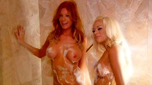 Bathroom, Blonde, Brunette, HD, Interview, Perfect body, Pornstar, Redhead, Shaved pussy