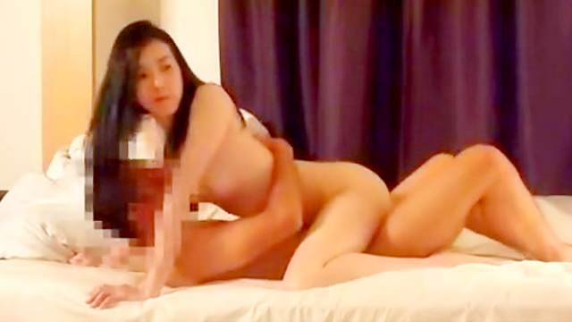 Horny dark-haired Asian fuck in doggy style