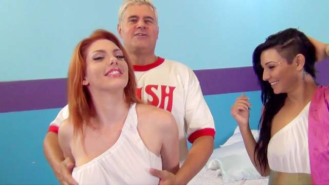 Aimee Black and Lilith Lust fuck with one cock
