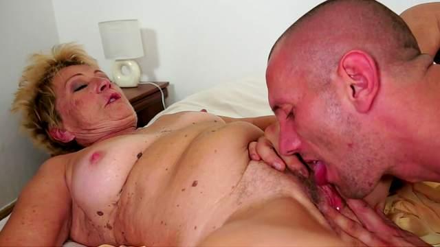 Malya bangs with a cute-looking bald fucker