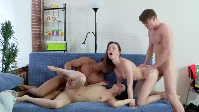 Two sexy couples are fucking so sweet