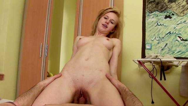 Sweet chick Deina is getting fucked in the bedroom