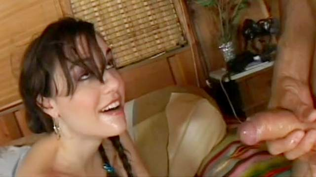 Sasha Grey fuck with Steven French in her head