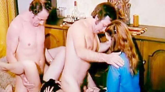 Blowjob, Group sex, Hairy, Movie, Natural tits, Retro, Spread legs, Stockings, Story, Toys
