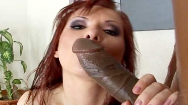 Redhead Katja Kassin and big black dick