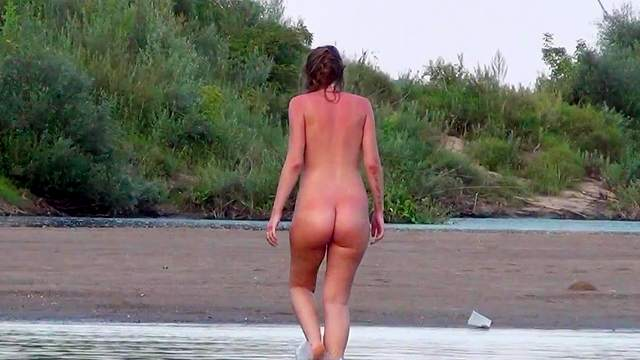 Beach, Cum on ass, Doggy style, Long hair, Natural tits, Nature, Outdoor, Pigtails, Pissing, POV, Pregnant, Shaved pussy, Young girl