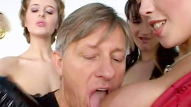 Anal, Blowjob, Corset, Doggy style, Dress, Gloves, Leather, Long hair, MILF, Natural tits, Oral, Orgy, Standing, Stroking