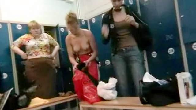 Hidden cam, Locker room, Natural tits, Panties, Voyeur