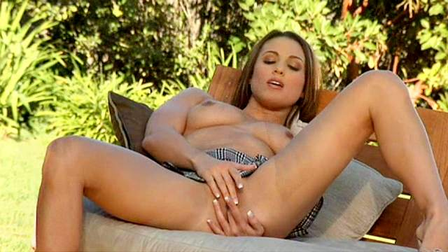 Solo cutie Misty Anderson takes off her panties