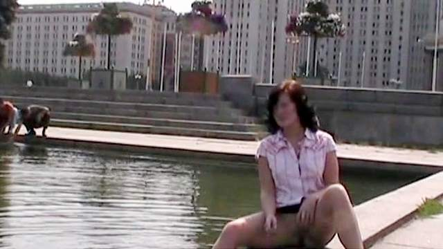 European, MILF, Mini skirt, Outdoor, Public, Solo, Upskirt