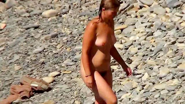 Beach, Hidden cam, Natural tits, Nudist, Outdoor, Voyeur