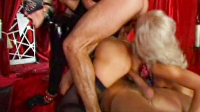 Anal, BDSM, Chain, Collar, Double penetration, Foursome, Group sex, HD, Mask, Small tits, Toys, Trimmed pussy