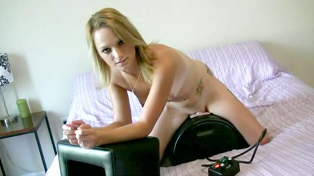 Amateur, Bed, Shaved pussy, Small tits, Solo girl, Sybian, Tattoo, Teen