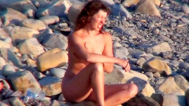 Beach, Hidden cam, Nudist, Outdoor, Small tits, Voyeur, Young girl