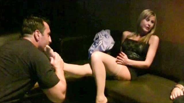 Couple, Femdom, Foot fetish, HD, Nylon, Stockings, Trample
