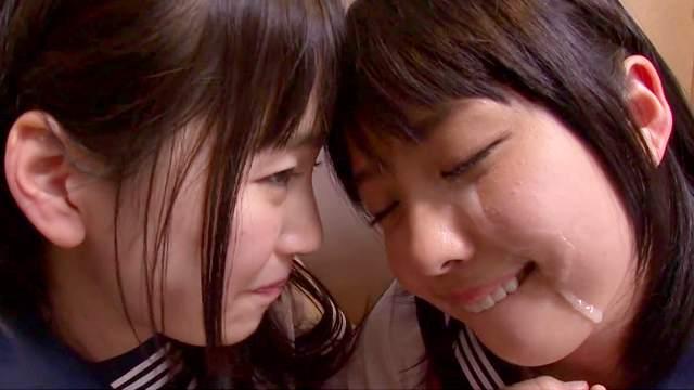 Asian, Blowjob, Facial, FFM, Japanese, Schoolgirl, Teen, Threesome, Toilet, Uniform