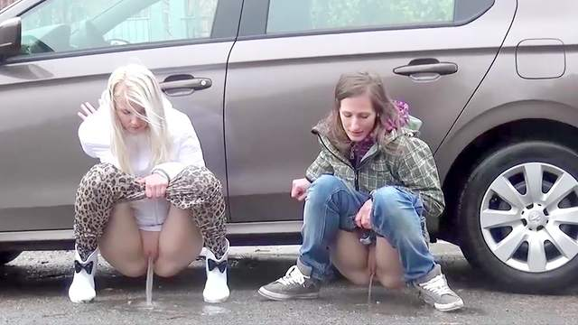 Compilation, Outdoor, Pissing, Public, Young girl