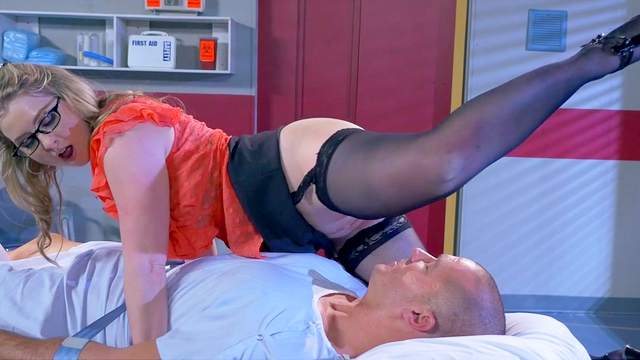 Ass, Blonde, Blowjob, Close up, Cumshot, Doctor, Facesitting, Facial, Glasses, Hardcore, HD, Hospital, Moaning, Pornstar, Pussy licking, Riding, Standing, Stockings