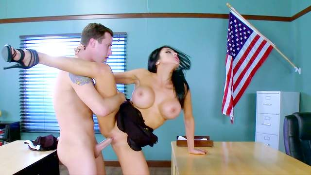 School detention leads horny guy to fuck his teacher badly