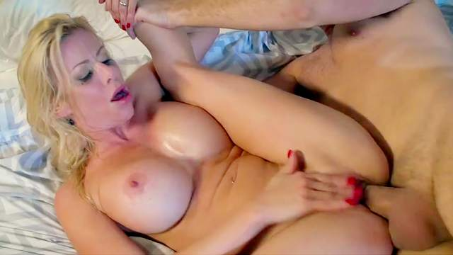Dirty wife cheats without knowing her hubby is watching