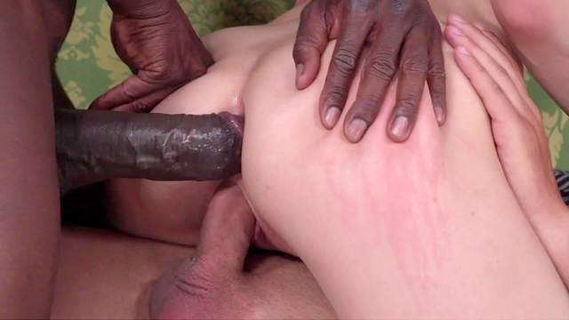 Emily Ross gets two monster dicks to ruin her holes