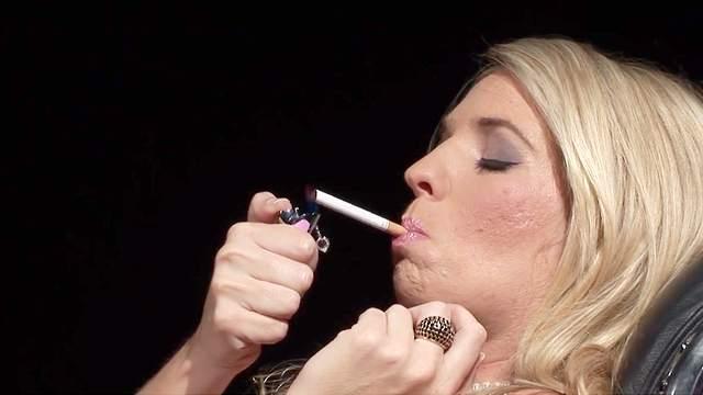 Amateur, Blonde, Blowjob, Cigarette, Cum in mouth, Cumshot, Facial, Fetish, HD, Lingerie, MILF, Smoking, 1080p