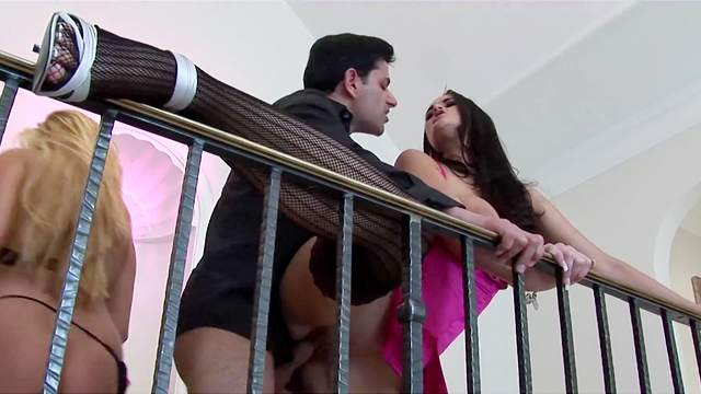 Foursome goes extreme for the busty wives once they swap partners