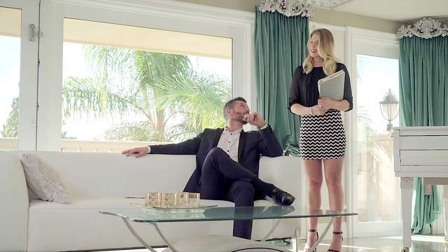 Real estate blonde sure needs guy's heavy dong for a little fun