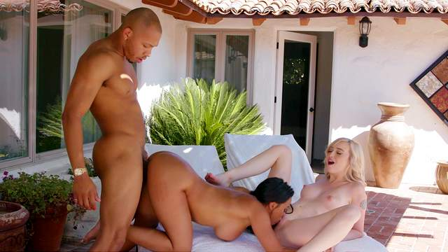 Surreal threeway sex in an upscale abode with Luna Star and Lexi Lore
