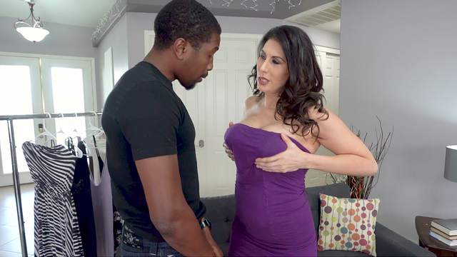 Black man suits the hot mature with the cock she always wanted