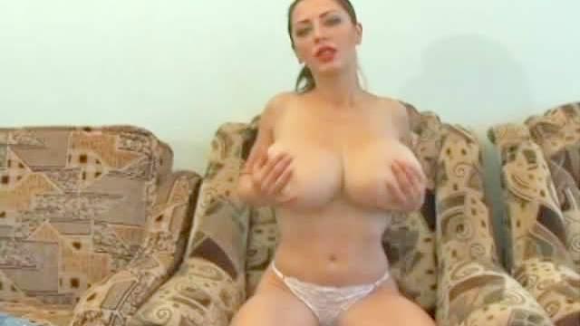 Big tits, Bra, Brunette, Jeans, Masturbation, MILF, Panties, Rubbing, Toys