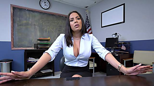 Special anal treat for the busty Latina teacher