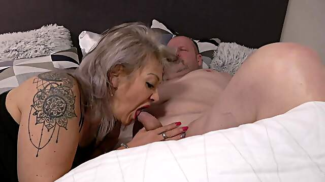 Sexy ass brunette shared by old couple