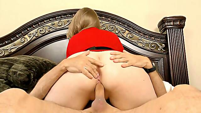 hard fucked with a finger in her butt hole