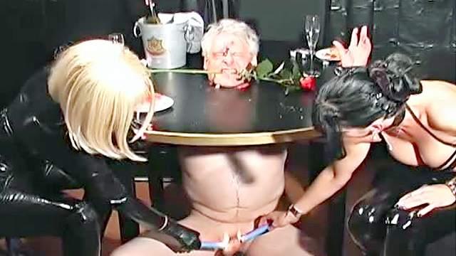 BDSM, Blonde, Bondage, Femdom, HD, Latex, Old man, Pain, Smoking, Spanking, Threesome, Wax, Wrap bondage