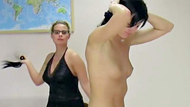 Abused, Domination, Femdom, Glasses, HD, Pain, Small tits, Whip