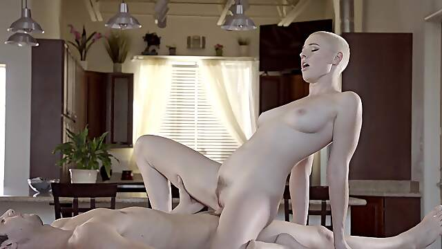 Ass licked then fucked in merciless XXX by the side of the table