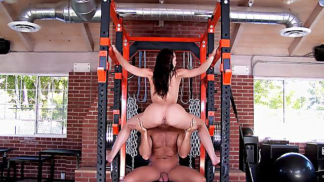 Sex at the gym in very unique positions