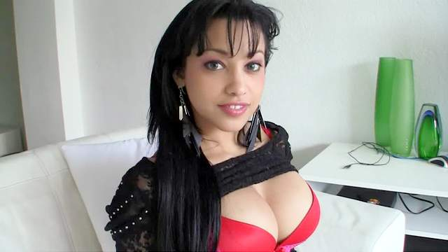 Beauty with fake breasts boned hardcore