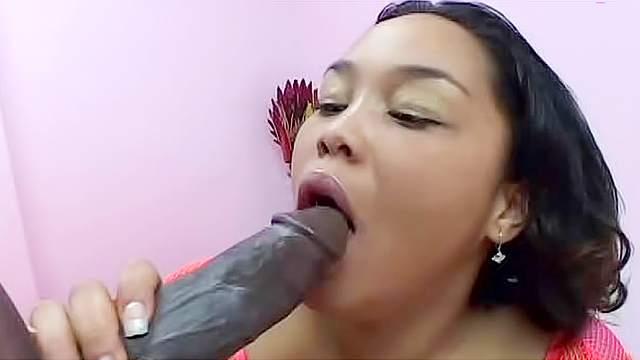 Hardcore anal with a fat black slut