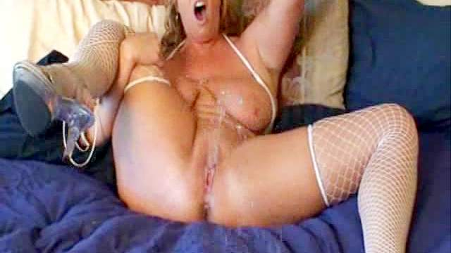 Amateur, Big tits, Blonde, Fishnet, Mature, MILF, Mom, Pussy, Squirting, Toys