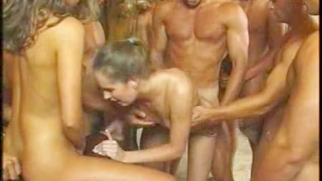 Anal, Babes, Blonde, Bukkake, Cumshot, Double penetration, Facial, Gangbang, Group sex, Hardcore, Long legs, Skinny