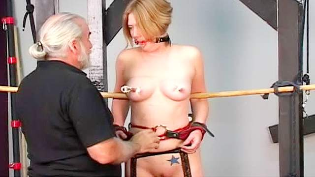 BDSM, Bondage, Extreme, HD, Old man, Pain, Shaved pussy, Small tits, Stockings