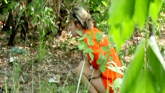 Teen voyeur pissing video way outdoors