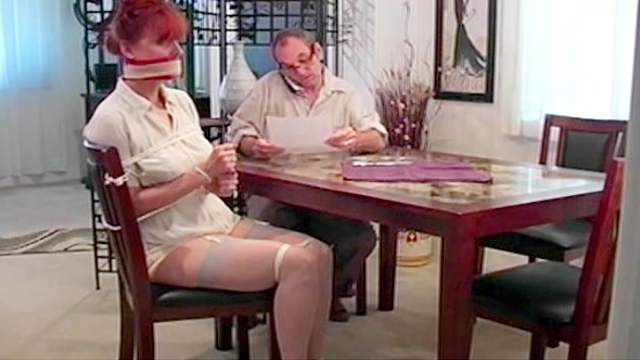 BDSM, Bondage, Gagging, High heels, Mature, Mom, Redhead, Shibari