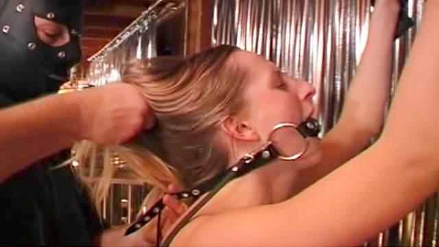 BDSM, Blonde, Cage, Gagging, Hanging, Spanking, Torture, Wax, Worship