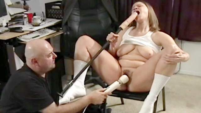 BDSM, Dildo, Forced orgasm, Panties, Rough, Shaved pussy