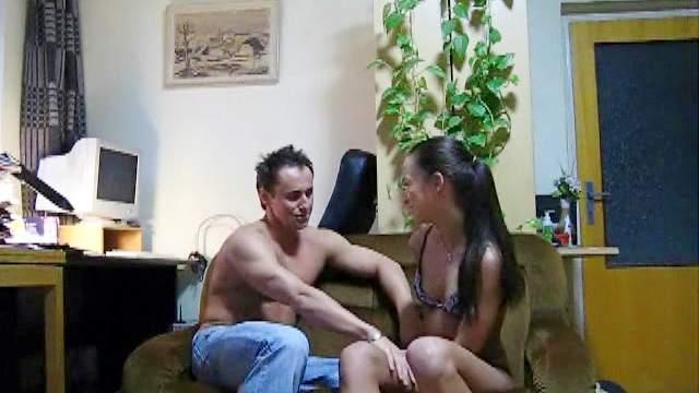 Russian teen Sveta making nice deepthroat blowjob