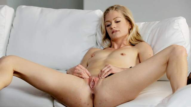 Sweet Amateur Blonde Maddie Winters Massages Her Lovely Pink Pussy Lips 1
